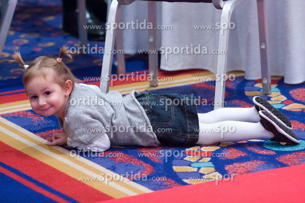 Pika, daughter of Alenka Bikar at Best Slovenian athlete of the year ceremony, on November 15, 2008 in Hotel Lev, Ljubljana, Slovenia. (Photo by Vid Ponikvar / Sportida)