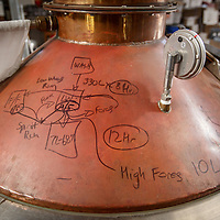 Notes are written on the still at McHenry Distillery in Port Arthur, Tasmania, August 25, 2015. Gary He/DRAMBOX MEDIA LIBRARY