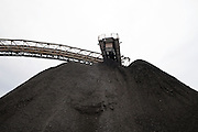 Coarse material from the Carbosulcis mine in Nuraxi Figus village to be processed in the coal wash plant.