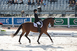 Rebecca Hart, (USA), Schroeters Romani - Freestyle Grade II Para Dressage - Alltech FEI World Equestrian Games™ 2014 - Normandy, France.<br /> © Hippo Foto Team - Leanjo de Koster<br /> 25/06/14