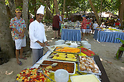 Similan Islands. Star Flyer anchoring at Ko Miang. Lunch barbecue for passengers.