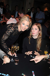 Left to right, TAMARA BECKWITH and her daughter ANOUSHKA BECKWITH at a party to celebrate the launch of Hollywood Domino - a brand new board game, held at Mosimann's 11b West Halkin Street, London on 7th November 2008.  The evening was in aid of Charlize Theron's Africa Outreach Project.