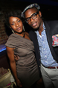 l to r: Nicole James and Ginno Benjamin at Vanessa Simmons' Birthday Celebration held at Su Casa on August 7, 2009 in New York City