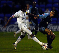 Photo: Jed Wee/Sportsbeat Images.<br /> Tranmere Rovers v Swansea City. Coca Cola League 1. 24/11/2007.<br /> <br /> Swansea's Darren Pratley (R) tussles with Tranmere's Ian Goodison.