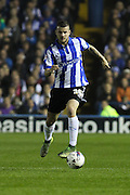 Sheffield Wednesday defender Daniel Pudil on the ball during the Capital One Cup Fourth Round match between Sheffield Wednesday and Arsenal at Hillsborough, Sheffield, England on 27 October 2015. Photo by Aaron Lupton.