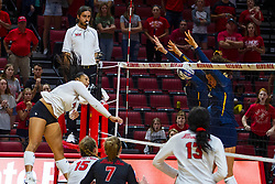 BLOOMINGTON, IL - September 15: Kaylee Martin during a college Women's volleyball match between the ISU Redbirds and the Marquette Golden Eagles on September 15 2019 at Illinois State University in Normal, IL. (Photo by Alan Look)