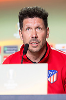 Atletico de Madrid coach Diego Simeone during press conference day before Europa League Semi Finals First Leg at Wanda Metropolitano in Madrid, Spain. May 02, 2018.  (ALTERPHOTOS/Borja B.Hojas)