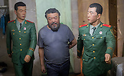 UNITED KINGDOM, London: 15 September 2015 A piece by Chinese Artist Ai Weiwei depicting his time being interrogated by Chinese military is photographed for his new exhibition at the Royal Academy of Arts in London, England. Andrew Cowie / Story
