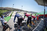 15 Boys #190 (LINDBERG Einar) SWE during practice at the 2018 UCI BMX World Championships in Baku, Azerbaijan.