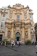 Roma 6 Luglio 2013<br /> ILa chiesa di Santa Maria Maddalena , nel rione Colonna. Rappresenta uno dei pochi e dei più begli esempi dell'arte rococò in Roma. E' la sede centrale dell'ordine dei Camilliani<br /> Rome July 6, 2013<br /> The Santa Maria Maddalena is a Roman Catholic church