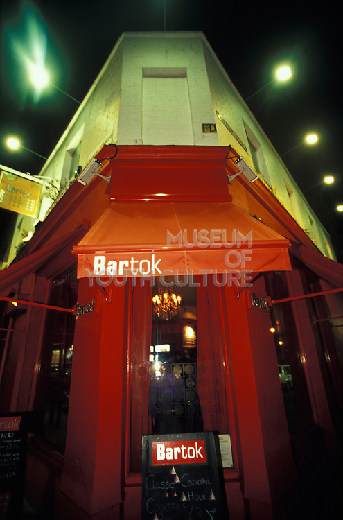 The exterior of Bartok in Camden, London, U.K, 2000s.