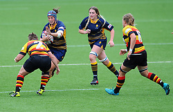 Stacey Maguire of Worcester Valkyries try to hold off Alice Soper of Richmond Women - Mandatory by-line: Nizaam Jones/JMP - 22/09/2018 - RUGBY - Sixways Stadium - Worcester, England - Worcester Valkyries v Richmond Women - Tyrrells Premier 15s