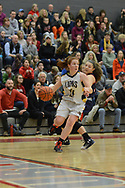 New Hope Solebury's Kelly Hyland (24) drives towards the basket as Riverside's Julia Antoniacci defends in the first quarter Saturday, March 11, 2017 at Upper Dublin High School in Ft. Washington, Pennsylvania. (Photo by William Thomas Cain)