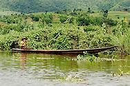 Burmese farmers at Inle lake