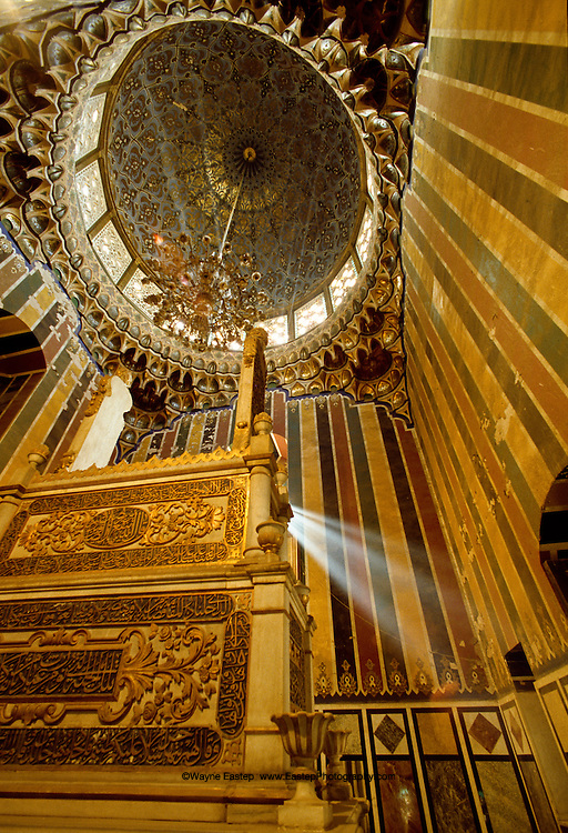 Interior of tomb for Mamluk rulers in Cairo, Egypt