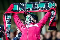 NIJMEGEN - NEC - Vitesse , Voetbal , Eredivisie , Seizoen 2016/2017 , Stadion de Goffert , 23-10-2016 , Jonge fanatieke NEC supporter