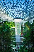 Jewel indoor waterfall at Changi Airport, Singapore, Republic of Singapore