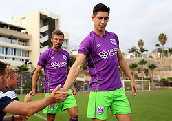Callum O'Dowda and Gary O'Neil of Bristol City prepare to come on as subs - Mandatory by-line: Matt McNulty/JMP - 22/07/2017 - FOOTBALL - Tenerife Top Training - Costa Adeje, Tenerife - Bristol City v Atletico Union Guimar  - Pre-Season Friendly