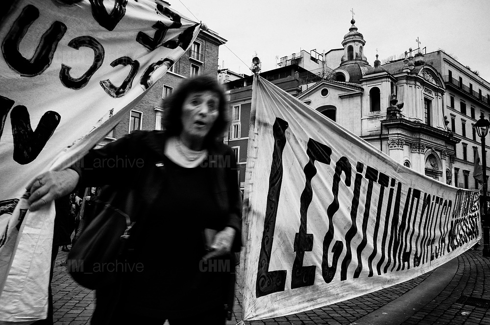 Demonstration against the security and immigration decree (Salvini decree, named after the deputy prime minister who proposed it) already approved in the Senate and in these days under discussion in the Chamber of Deputies. Rome 23 November 2018. Christian Mantuano / OneShot