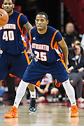 FAYETTEVILLE, AR - DECEMBER 19:  Marshun Newell #25 of the UT Martin Skyhawks plays defense during a game against the Arkansas Razorbacks at Bud Walton Arena on December 19, 2013 in Fayetteville, Arkansas.  The Razorbacks defeated the Skyhawks 102-56.  (Photo by Wesley Hitt/Getty Images) *** Local Caption *** Marshun Newell