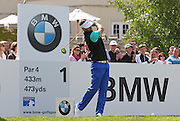 Scott JAMIESON teeing off from the first hole during the 4th day of the BMW PGA Championship at Wentworth, Virginia Water, United Kingdom on 24 May 2015. Photo by Ellie  Hoad.