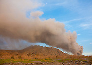 Volcanic eruption in Tavurvur volcano, Rabaul, New Britain Island, Papua New Guinea.