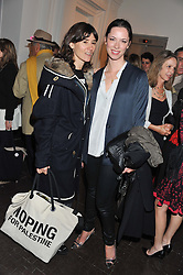 Left to right, BELLA FREUD and REBECCA HALL at a party to celebrate the launch of the new gallery Pace at 6 Burlington Gardens, London on 3rd October 2012.