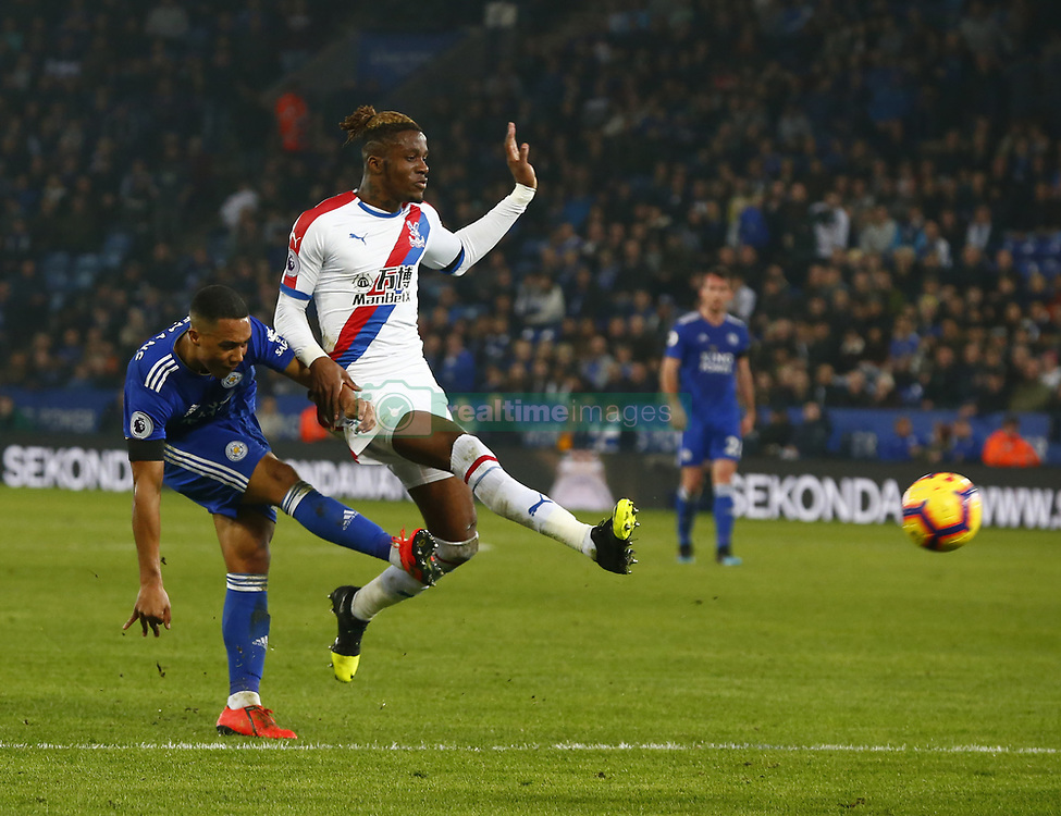 February 23, 2019 - Leicester, England, United Kingdom - L-R Leicester City's Youri Tielemans and Crystal Palace's Wilfried Zaha.during English Premier League between Leicester City and Crystal Palace at King Power stadium , Leicester, England on 23 Feb 2019. (Credit Image: © Action Foto Sport/NurPhoto via ZUMA Press)