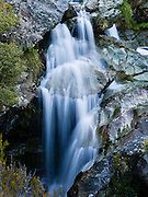 Routeburn Falls, Routeburn Track, in Mount Aspiring National Park, South Island, New Zealand. In 1990, UNESCO honored Te Wahipounamu - South West New Zealand as a World Heritage Area.