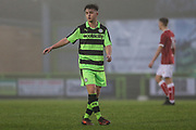 Forest Green Rovers Kieron Proctor(11) during the Gloucestershire Senior Cup match between Forest Green Rovers and U23 Bristol City at the New Lawn, Forest Green, United Kingdom on 9 April 2018. Picture by Shane Healey.