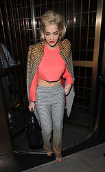 Rita Ora and Cara Delevingne leaving the Cafe Royal Hotel in London, UK. 18/02/2013<br />BYLINE MUST READ : GOTCHAIMAGES.COM<br /><br />Copyright by © Gotcha Images Ltd. All rights reserved.<br />Usage of this image is conditional upon the acceptance <br />of Gotcha Images Ltd, terms and conditions available at<br />www.gotchaimages.com
