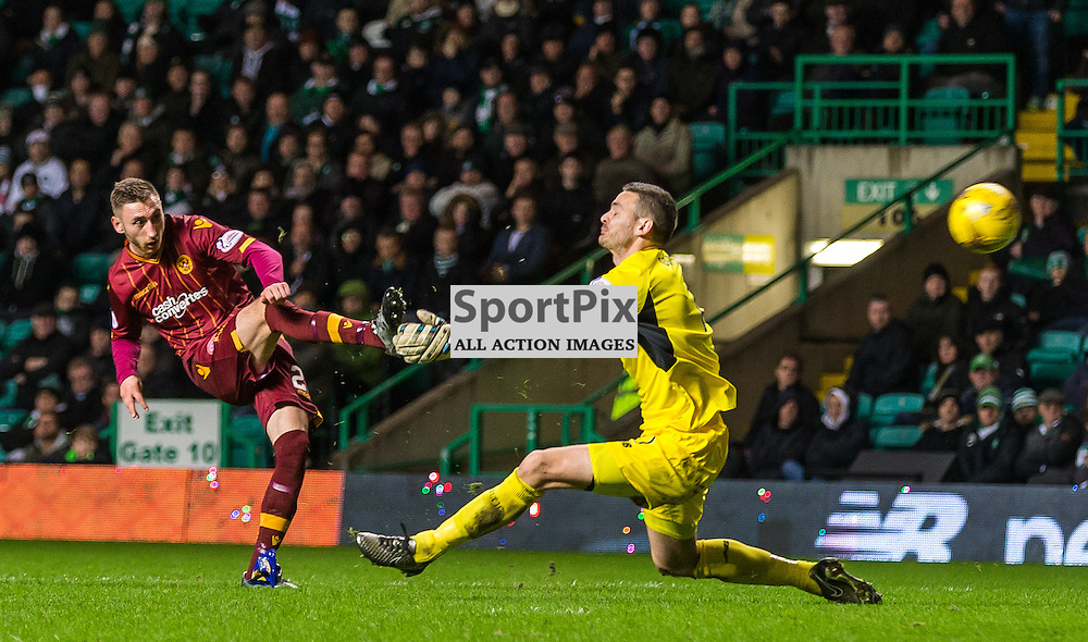 Louis Moult has a hance of a ht-trick during the match between Celtic and Motherwell (c) ROSS EAGLESHAM | Sportpix.co.uk