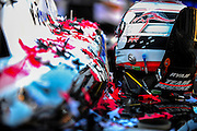 24-26 August, 2012, Sonoma, California USA.The car and helmet of Ryan Briscoe (2) is covered in confetti after his Sonoma Grand Prix win. .(c)2012, Jamey Price.LAT Photo USA