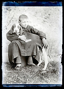 boy with pet dog France circa 1920s