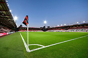 General view of a floodlit Vitality Stadium ahead of the Premier League match between Bournemouth and Chelsea at the Vitality Stadium, Bournemouth, England on 30 January 2019.