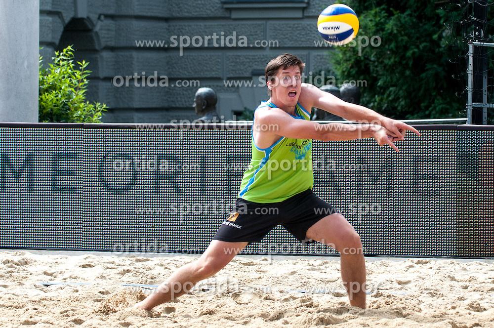 David Cuk at Beach Volleyball Challenge Ljubljana 2014, on August 1, 2014 in Kongresni trg, Ljubljana, Slovenia. Photo by Matic Klansek Velej / Sportida.com