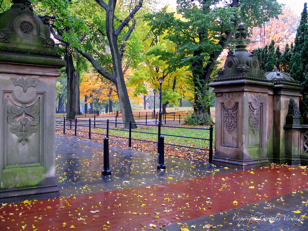 Autumn colors at Bethesda Terrace in Central Park