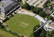 aerial photograph of Bradford and Bingley Cricket Club   Bradford Yorkshire  England UK