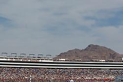Mar 11, 2012; Las Vegas, NV, USA;  General view of fans in the stands during the Kobalt Tools 400 at Las Vegas Motor Speedway. Mandatory Credit: Jason O. Watson-US PRESSWIRE