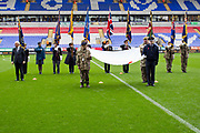 Bolton hold Act of Remembrance before the EFL Sky Bet League 1 match between Bolton Wanderers and Fleetwood Town at the University of  Bolton Stadium, Bolton, England on 2 November 2019.