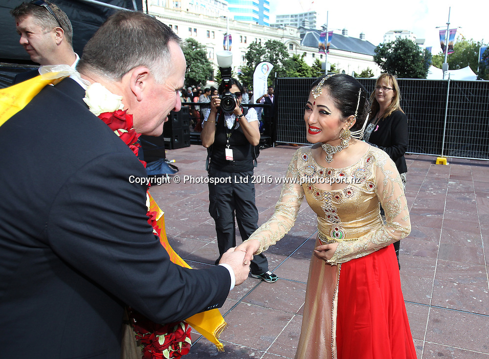 Prime Minister John Key attends the Diwali Festival, Auckland, New Zealand. Saturday 15 October 2016. © Copyright Image: Ben Campbell / www.photosport.nz
