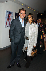 JOEL CADBURY and DIVIA LALVANI at the Harpers and Moet Restaurant Awards 2005 held at Floridita, Wardour Street, London W1 on 31st October 2005.<br />
