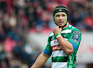Benetton Rugby's Francesco Minto leaves the pitch after being shown the red card<br /> <br /> Photographer Simon King/Replay Images<br /> <br /> EPCR Champions Cup Round 3 - Scarlets v Benetton Rugby - Saturday 9th December 2017 - Parc y Scarlets - Llanelli<br /> <br /> World Copyright © 2017 Replay Images. All rights reserved. info@replayimages.co.uk - www.replayimages.co.uk
