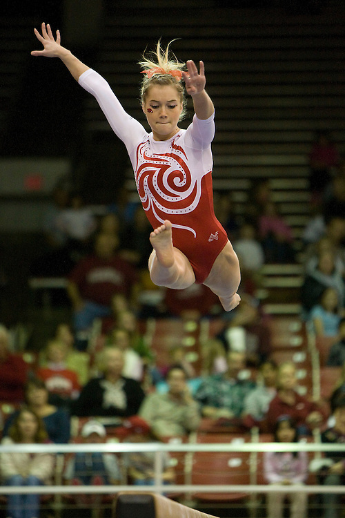 University of Arkansas Razorback Women's Gymnastics action photos during the 2008-2009 season in Fayetteville, Arkansas....©Wesley Hitt.All Rights Reserved.501-258-0920.