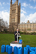 Graham Jones MP. Marking World Water Day, over 40 MP's walked for water at Westminster, London at an event organised by WaterAid and Tearfund. Globally hundreds of thousands of people took part in the campaign to raise awareness of the world water crisis.