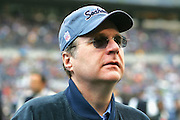 SEATTLE - NOVEMBER 28:  Paul Allen, Chairman of the Seattle Seahawks, tours the sidelines prior to the game against the Buffalo Bills at Qwest Field on November 28, 2004 in Seattle, Washington. The Bills defeated the Seahawks 38-9. ©Paul Anthony Spinelli *** Local Caption *** Paul Allen