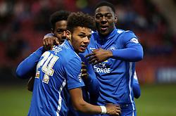 Lee Angol of Peterborough United celebrates scoring his goal - Mandatory byline: Joe Dent/JMP - 07966 386802 - 21/11/2015 - FOOTBALL - Alexandra Stadium - Crewe, England - Crewe Alexandra v Peterborough United - Sky Bet League One