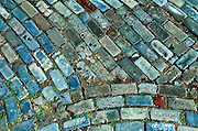 PUERTO RICO, OLD SAN JUAN blue cobblestones brought from England