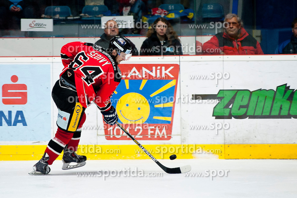 15.03.2015, Ice Rink, Znojmo, CZE, EBEL, HC Orli Znojmo vs EC KAC, 59. Runde, 5. Viertelfinale, im Bild Ondrej Sedivy (HC Orli Znojmo) // during the Erste Bank Icehockey League 59th round match, 5th quarterfinal between HC Orli Znojmo and EC KAC at the Ice Rink in Znojmo, Czech Republic on 2015/03/15. EXPA Pictures © 2015, PhotoCredit: EXPA/ Rostislav Pfeffer