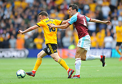 Diogo Jota of Wolverhampton Wanderers tries to hold off Jack Cork of Burnley - Mandatory by-line: Nizaam Jones/JMP- 16/09/2018 - FOOTBALL - Molineux - Wolverhampton, England - Wolverhampton Wanderers v Burnley - Premier League